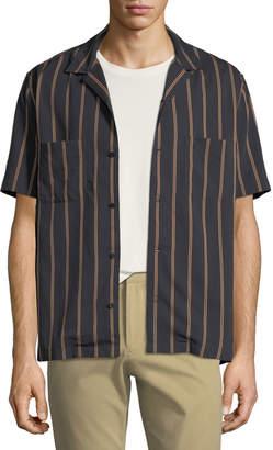 Vince Men's Vintage Striped Cabana Shirt