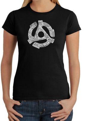 Women's Word Art 45 Adaptor T-Shirt in Black $19.99 thestylecure.com