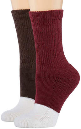 Asstd National Brand 2 Pair Diabetic Crew Socks - Womens