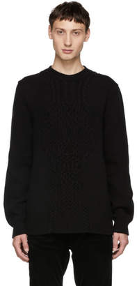 Alexander McQueen Black Crewneck Knit Sweater