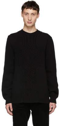 Alexander McQueen Black Crewneck Knit Sweater