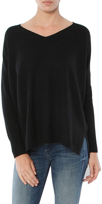Minnie Rose Cashmere Boyfriend Sweater $319 thestylecure.com