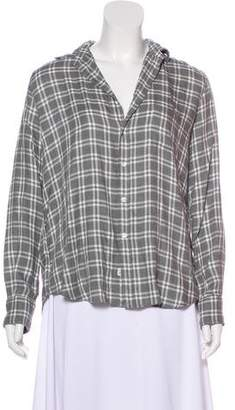 Frank And Eileen Plaid Print Long Sleeve Top