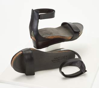 2f71855e8af Naot Footwear Leather Ankle Strap Wedge Sandals - Mermaid