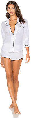 Only Hearts Organic Cotton with Piping Long Sleeve Shorty PJ Set
