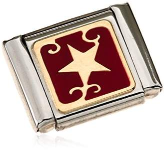 Nomination Composable BIG Star Charm - 18–Carat Gold / Stainless Steel Partially Gold-Plated Enamel 032244 / 09