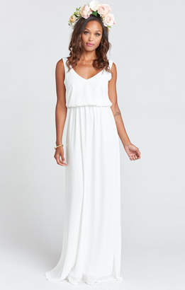 Show Me Your Mumu Kendall Maxi Dress ~ Ivory Crisp
