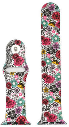 OLIVIA PRATT Olivia Pratt Compatible With Apple Watch Unisex Red Watch Band-8844floralwave42