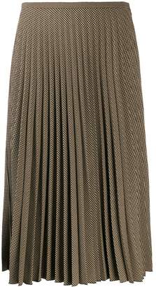 Piazza Sempione pleated midi skirt