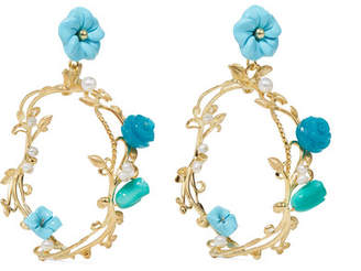 Of Rare Origin - Forget-me-not Gold Vermeil Multi-stone Earrings