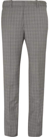Balenciaga Archetype Slim-Fit Prince of Wales Checked Wool and Mohair-Blend Trousers