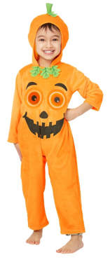 George Halloween Pumpkin Holographic Fancy Dress Costume