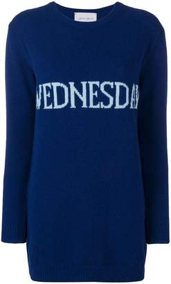 Alberta Ferretti Wednesday sweater dress