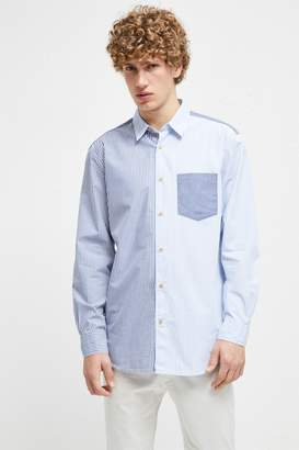 French Connection Patchwork Stripe Shirt