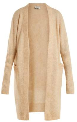 Acne Studios Brushed Knit Cardigan - Womens - Light Beige