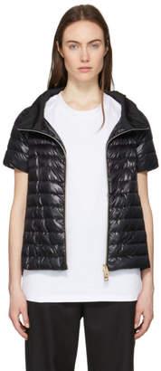 Herno Black Down Short Sleeve A-Line Jacket