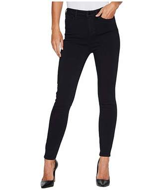 Liverpool Bridget High Waist Ankle in Soft Silky Denim in Indigo Overdyed Black