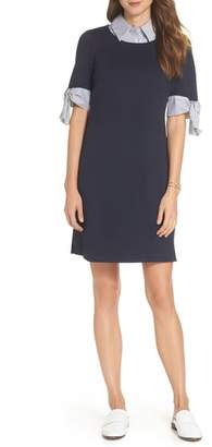 1901 Layered Look Ponte Shift Dress