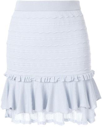 Jonathan Simkhai Lacey applique mini ruffle skirt