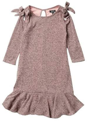 Zunie Long Sleeve Knit Ruffle Hem Dress (Big Girls)