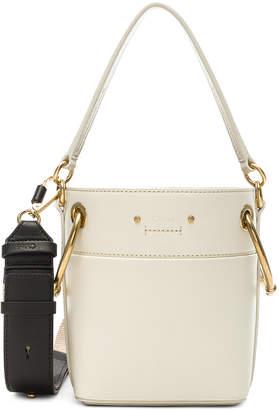 Chloé Mini Roy Calfskin Bucket Bag in Natural White | FWRD