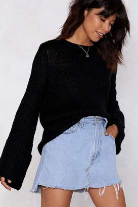 Nasty Gal Knit-Flix and Chill Off-the-Shoulder Sweater