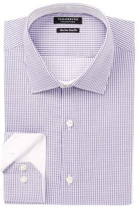 Tailorbyrd Check Trim Fit Dress Shirt