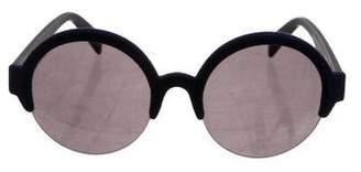 Italia Independent Velvet Round Sunglasses
