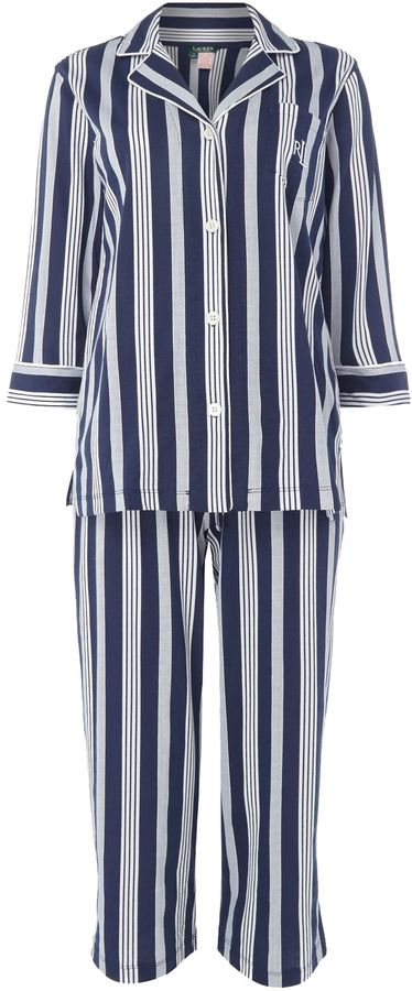 lauren ralph lauren jersey stripe pyjama set women. Black Bedroom Furniture Sets. Home Design Ideas