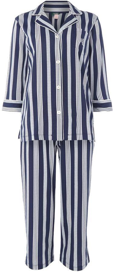 lauren ralph lauren jersey stripe pyjama set shopstyle. Black Bedroom Furniture Sets. Home Design Ideas