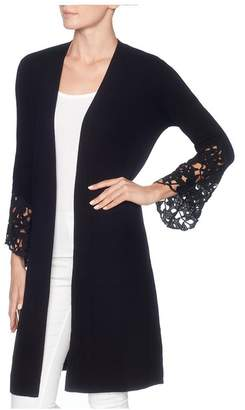 Magaschoni Long Sleeve Open Front Duster
