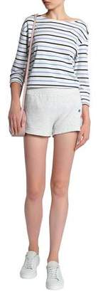 Monrow Embroidered Mélange Jersey Shorts