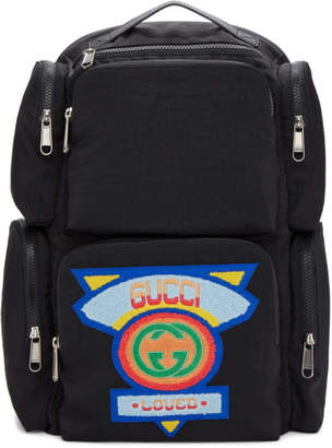 Gucci Black Multi Pocket Backpack