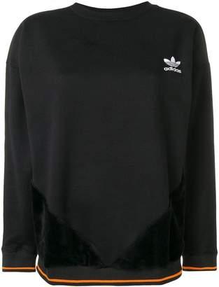 adidas small embroidered logo sweatshirt