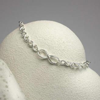 82d801a44df58 Martha Jackson Sterling Silver Sterling Silver Infinity Bracelet