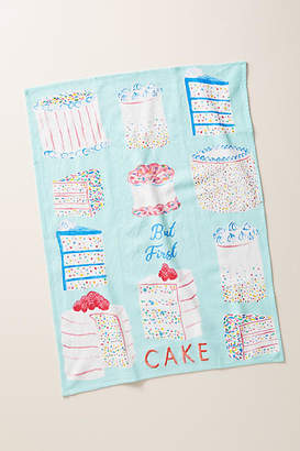 Anthropologie But First, Cake Dish Towel