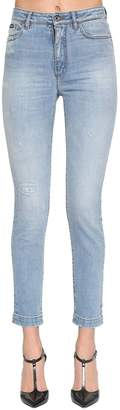 Dolce & Gabbana REGULAR WAIST COTTON DENIM STRETCH JEANS