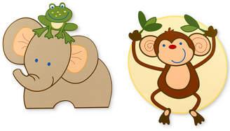 NoJo Jungle Babies 2-Pc. Wood Wall Art Set Bedding