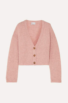 RED Valentino Cropped Knitted Cardigan - Pink