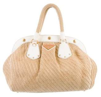 Prada Woven Straw Handle Bag