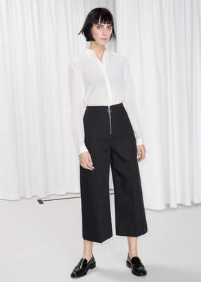 And other stories O-Ring Zipper Culotte Trousers