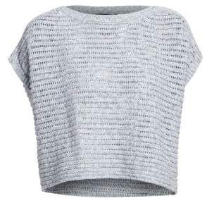Eileen Fisher Crochet Short-Sleeve Sweater