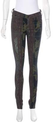 Citizens of Humanity Printed Mid-Rise Skinny Jeans