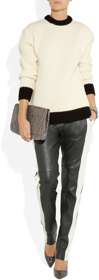 Les Chiffoniers Paneled leather pants
