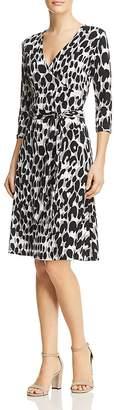 Leota Faux-Wrap Animal Print Dress