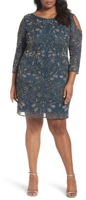 Pisarro Nights Embellished Cold Shoulder Dress (Plus Size)