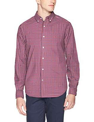 Nautica Men's Classic Fit Long Sleeve Navtech Plaid Button Down Shirt
