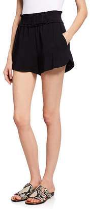 A.L.C. Auburn High-Waist Belted Shorts