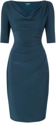 Lauren Ralph Lauren Short Sleeve Gathered Side Dress