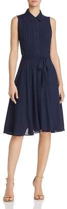 Nanette Lepore nanette Pintuck Pleat Shirt Dress